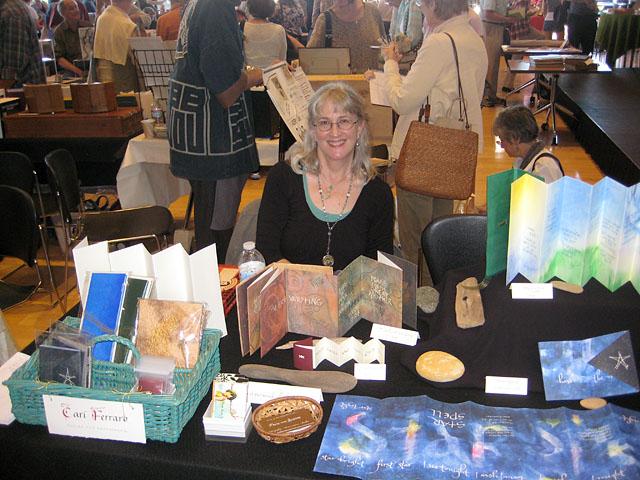 Cari at the Book Arts Jam 2011