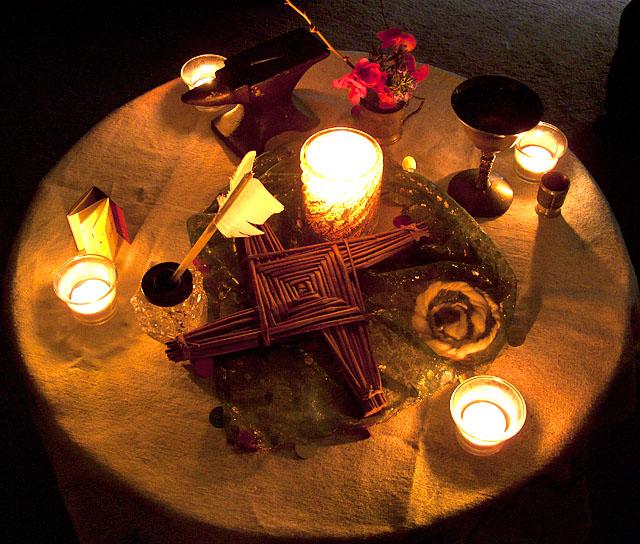Brigid's Altar 2013