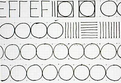 circles practice on grid paper