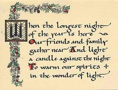 The Longest Night card earliest incarnation