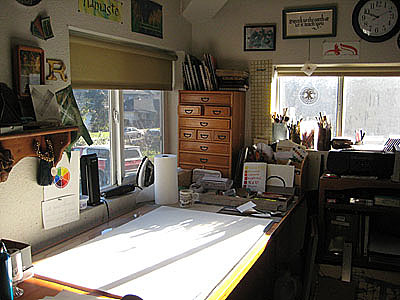 view of a calligraphy studio