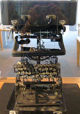 Deconstructed Typewriter at Kalligraphia exhibit