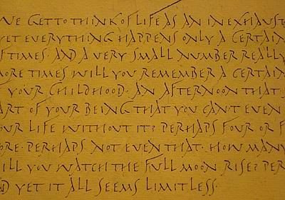 Judy Detrick Rustic lettering