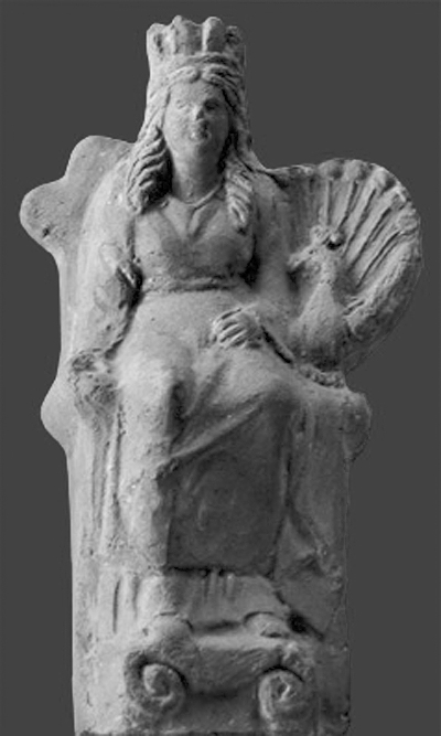 Juno statue with peacock from Tunis