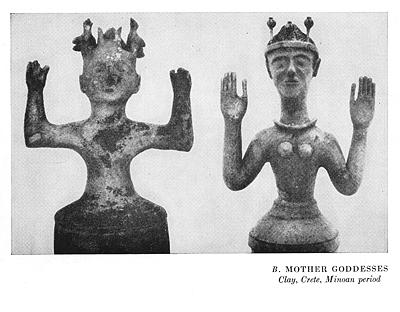 ancient Minoan goddess figures