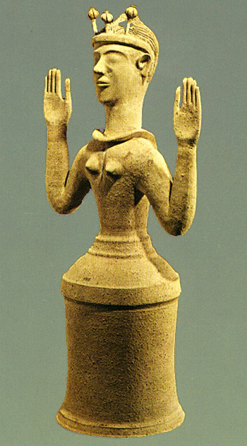 Poppy goddess figure from ancient Crete