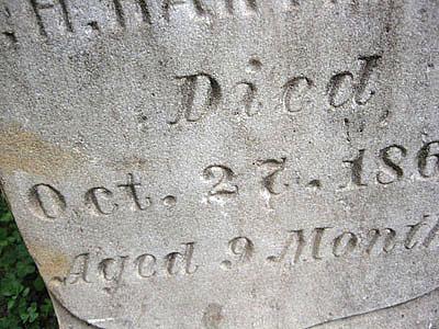 1865 gravestone lettering