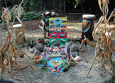 Aztec Harvest Altar