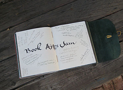 Book Arts Jam journal page