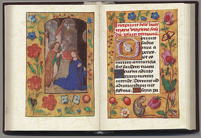 Book of Hours page spread