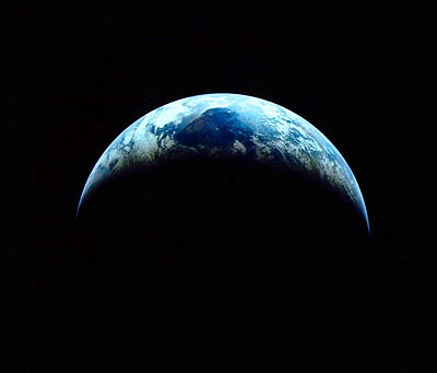 Crescent Earth from Apollo 11 in 1969