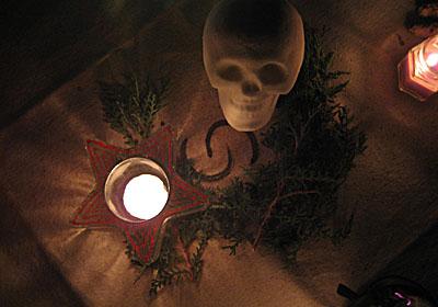 famiily Samhain altar