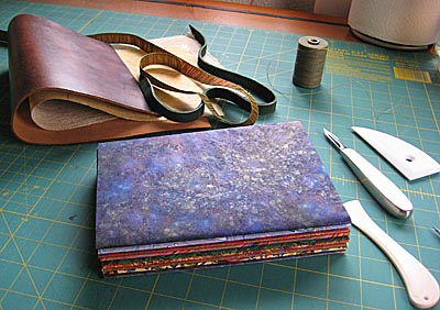 journal signaures wrapped in marbled papers