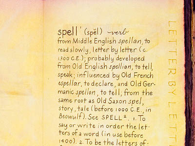 Spelling Words #3 first page dictionary definition