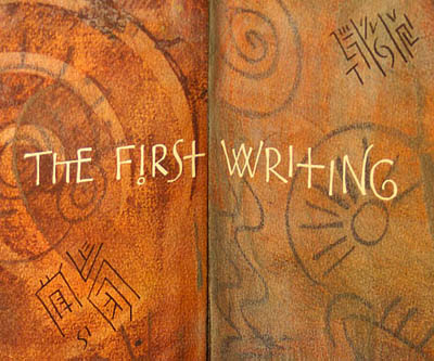 The First Writing center spread detail