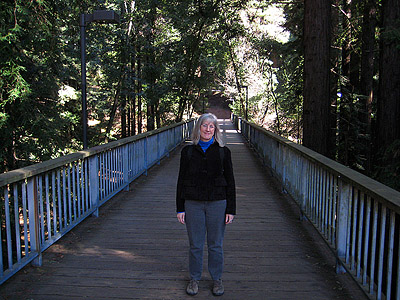 Cari on UCSC Bridge