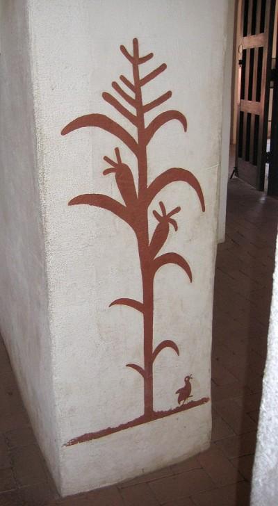 San Xavier del Bac corn plant painting