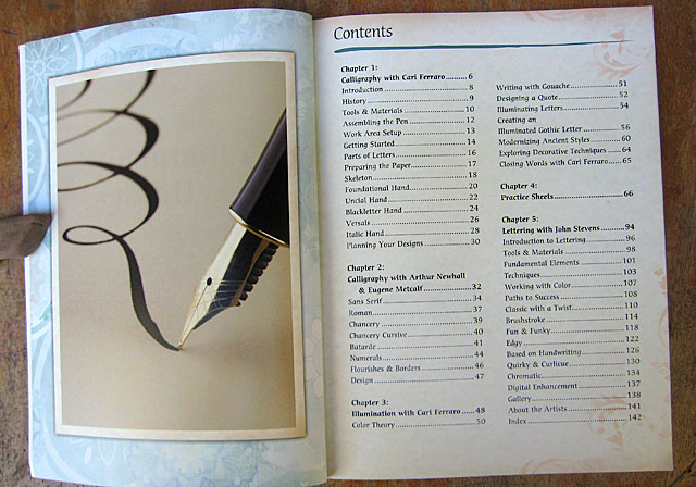 The Art of Calligraphy Table of Contents