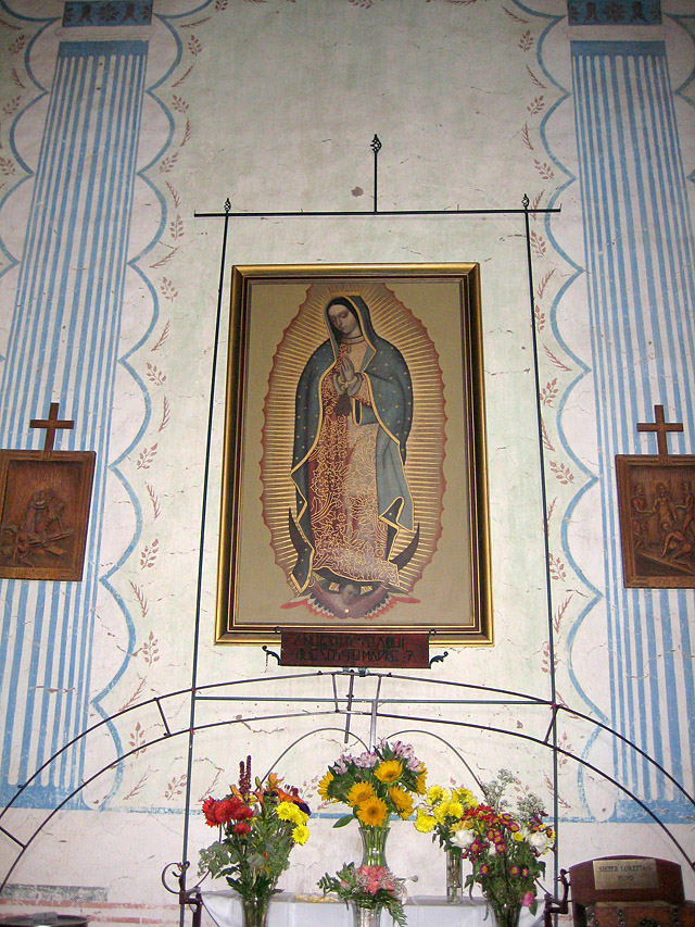 San Miguel Guadalupe at Sanctuary Entrance