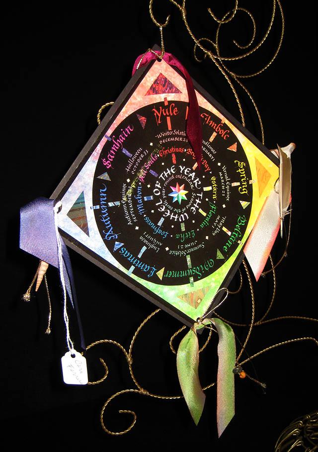 Mandala Prayer Wheel of the Year display