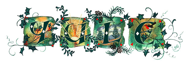 YULE illuminated letters