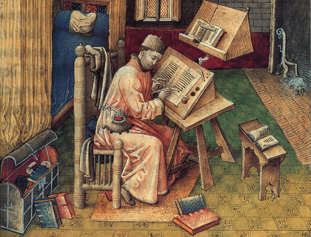 Medieval Scribe Jean Mielot