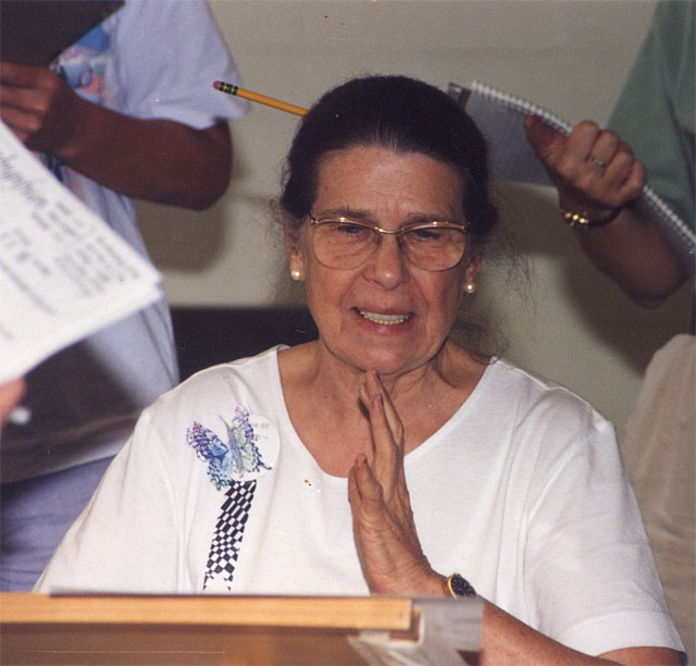 Alice teaching at California Experience conference 1994
