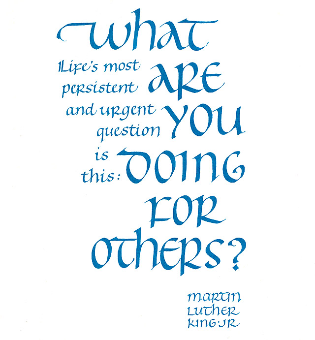 Martin Luther King quote What Are You Doing for Others