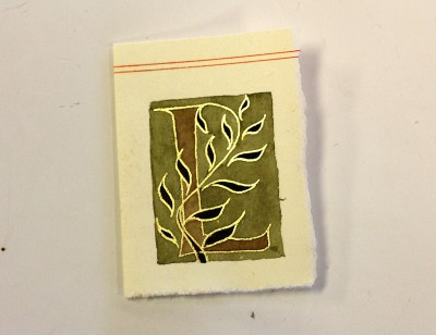Manuscript Gilding_Judy Gilded Leaves Sample