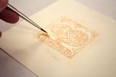 Manuscript Gilding_Laying Size