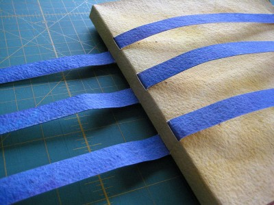 Journal_ threading strips through spine