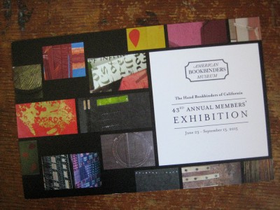 Hand Bookbinders of California postcard 2015