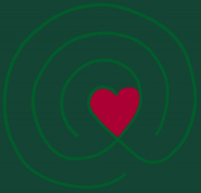 Labyrinth Heart_Green and Red