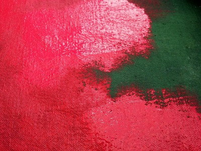 Labyrinth_Red Green Paint
