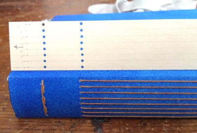 Journal - longstitch binding sewing holes jig