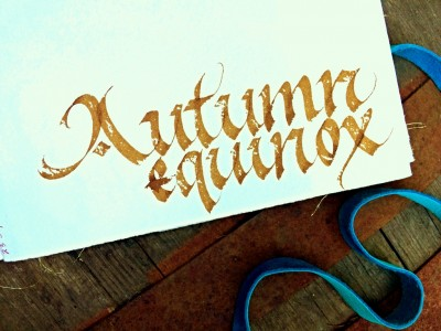 Autumn Equinox calligraphy