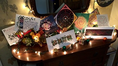 Yule cards display