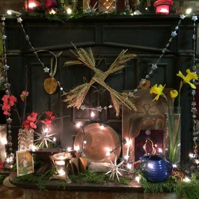 Brigid Eve Altar