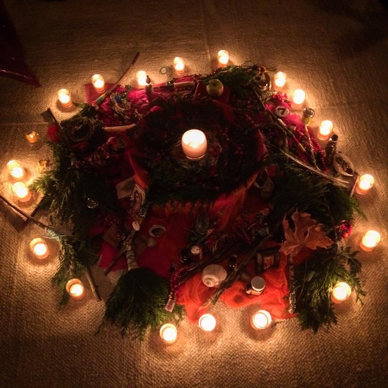 Gaian Retreat_Closing Night Altar