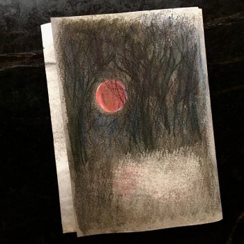 Brigid Eve Lunar Eclipse Drawing