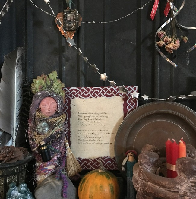 Summer Altar_kitchen witch